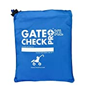 Gate Check Pro XL Double Stroller Travel Bag | Premium Quality Ballistic Nylon Travel System | Featuring Padded Backpack Shoulder Straps for Comfort and Durability (Made By the #1 Specialist Brand)
