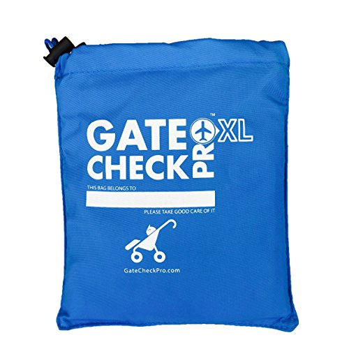 Gate Check Pro XL Double Stroller Travel Bag | Premium Quality Ballistic Nylon Travel System | Featuring Padded Backpack Shoulder Straps for Comfort and Durability (Made By the #1 Specialist Brand) (Travel Premium Stroller)