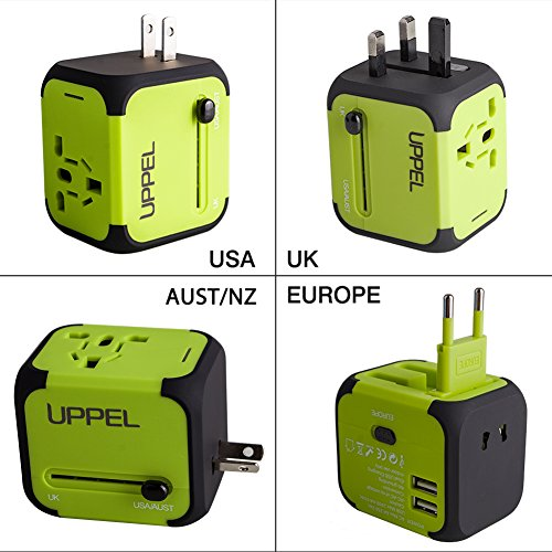 Travel Adapter Uppel Dual USB All-in-one Worldwide Travel