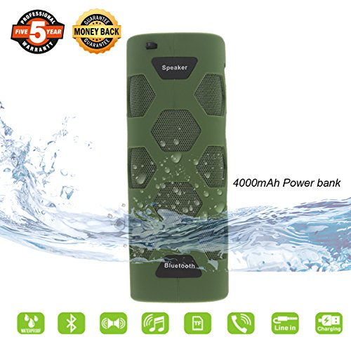 Outdoor Bluetooth Speaker,Waterproof Portable Bluetooth Spea