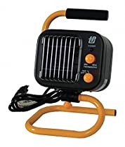 TPI Corp. 11-1/4 x 7 x 10 Ceramic and Fan Forced Electric Space Heater, Black/Yellow, 120VAC