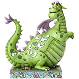"Disney Traditions by Jim Shore ""Pete's Dragon"" 40th Anniversary Elliot Stone Resin Figurine, 9"""
