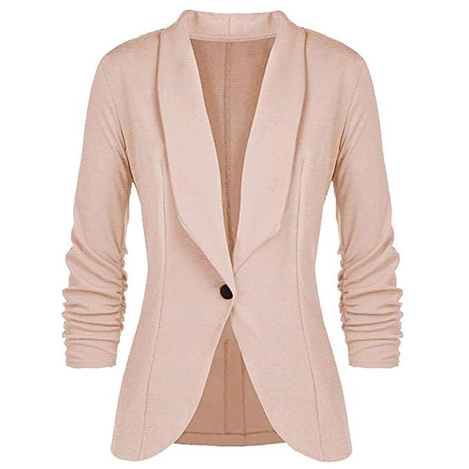 Amazon.com: Mujer Blazer Chaquetas de Moda de las Señoras de ...