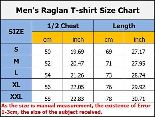 Sloth Riding Turtle Cotton Boys Long Sleeve Raglan T-Shirts Round-Neck Baseball Tee Shirt For Men -
