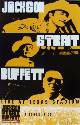 - Alan Jackson - George Strait - Jimmy Buffett - Live At Texas Stadium - Poster - New - Rare