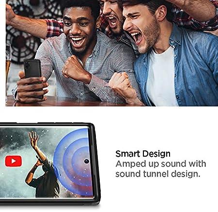 Coque Compatible avec Samsung Galaxy Note 10 Plus Air Cushion Tough Armor Spigen Coque Samsung Note 10 Plus Coque Note 10 Plus 2019 - Noir US Military Grade Protection Maximale