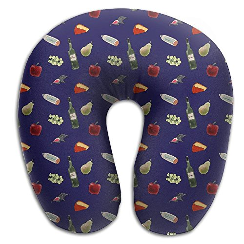 Multifunctional Neck Pillow Tossed Pattern U-Shaped Soft Pillows Convertible Portable For Reading,Sleeping On Airplanes,Train,Car,and Travel (Trains Tossed)