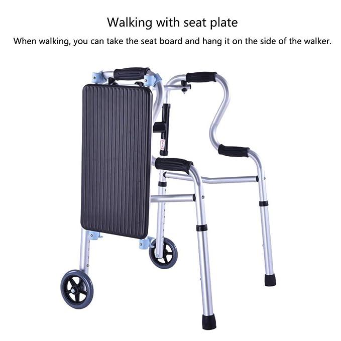 YUNSHINE Andador plegable y liviano, andador con ruedas y ...