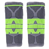 SM SunniMix Pack of 2 32x17cm/12.6x6.7inch Knee Support Compression Sleeve Brace Pad Guard for Basketball Running Jogging Tennis Volleyball