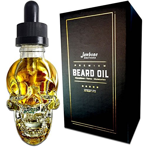 Premium 100% Natural Beard Oil for Men - Pure Jojoba and Argan Oil