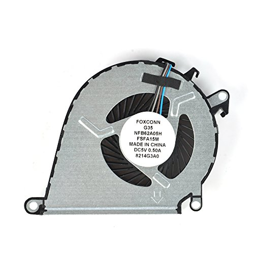 Eathtek Replacement CPU Cooling Fan for HP 15-BC011TX 15-BC012TX 15-BC013TX 15-BC217TX 15-BC219TX 15-AX 15-AX020CA 15-AX039NR 15-AX252NR 15-AX253DX series, Compatible part number 858970-001 4 pins by Eathtek