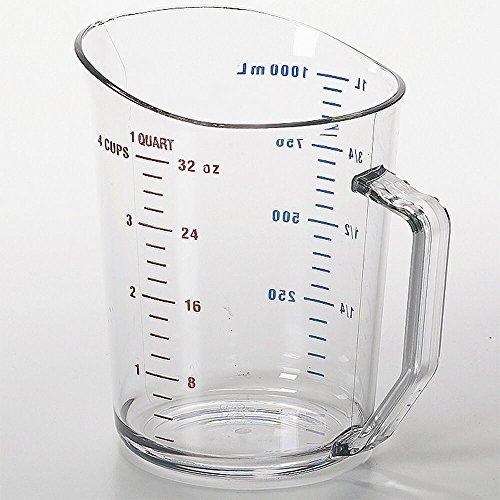 Cambro 100MCCW135 Camwear Measuring Cup 1 quart clear - Case of 12