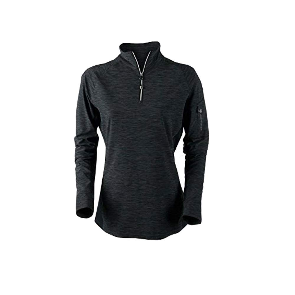 Black Obermeyer Women's Nora Baselayer Zip Top