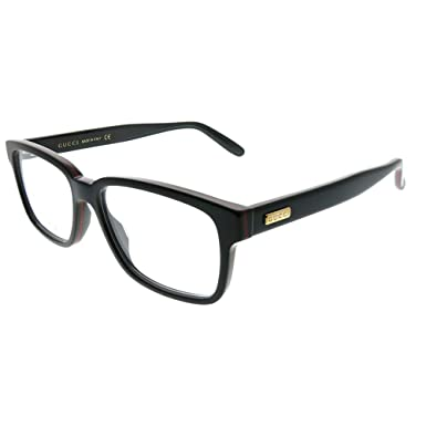 7e678502846 Image Unavailable. Image not available for. Color  GUCCI STRIPE 0272 Black  Square Eyeglasses Optical Frame 53mm