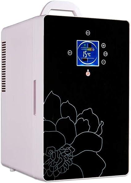 Kievy Refrigerador del automóvil Mini 16l, refrigerador compacto de doble núcleo + termostato digital silencioso, refrigerador de temperatura ajustable, congeladores, calentador (uso de oficina y auto: Amazon.es: Coche y moto