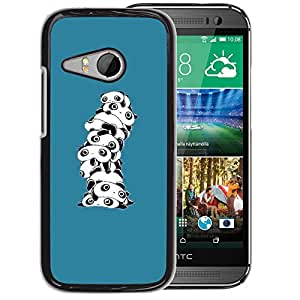 Planetar® ( Cute Cartoon Panda White ) HTC ONE MINI 2 / M8 MINI Fundas Cover Cubre Hard Case Cover
