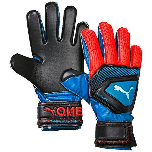 449cea764 PUMA Unisex's One Protect 3 JR Goalkeeper Gloves, Bleu Azur-Red Blast  Black, 4
