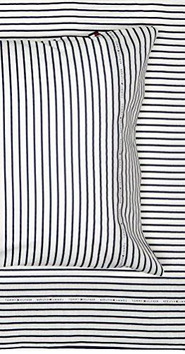 Tommy Hilfiger Signature Stripe Sheet Set, Twin X-Large, Blue
