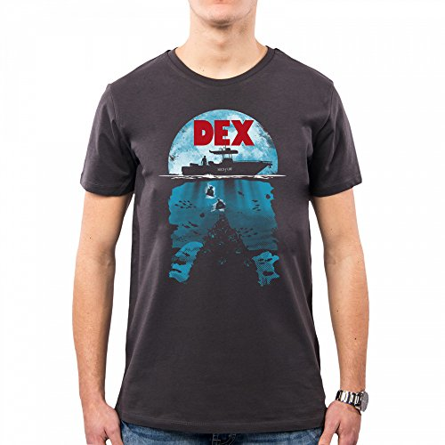 Op0009a Dexter Pacdesign Dex Jaws shirt Body Asphalt Sea T Uomo 7x4gq
