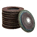 10Pcs Grit 60# 4'' Abrasive Flap Sanding Disc Polishing Wheel Grinding Disc