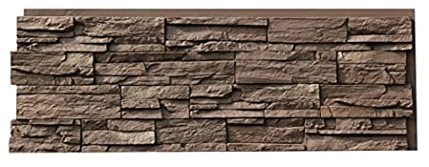 NextStone Country Ledgestone Faux Polyurethane Stone Panel - Himalayan Brown - 4 Pack - Faux Stone Siding