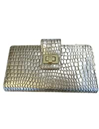 Buxton Pebbled Gold Wallet Superwallet Card Holder Small Purse