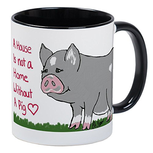 CafePress - A House Is Not A Home Without A Pig Mugs - Unique Coffee Mug, Coffee Cup