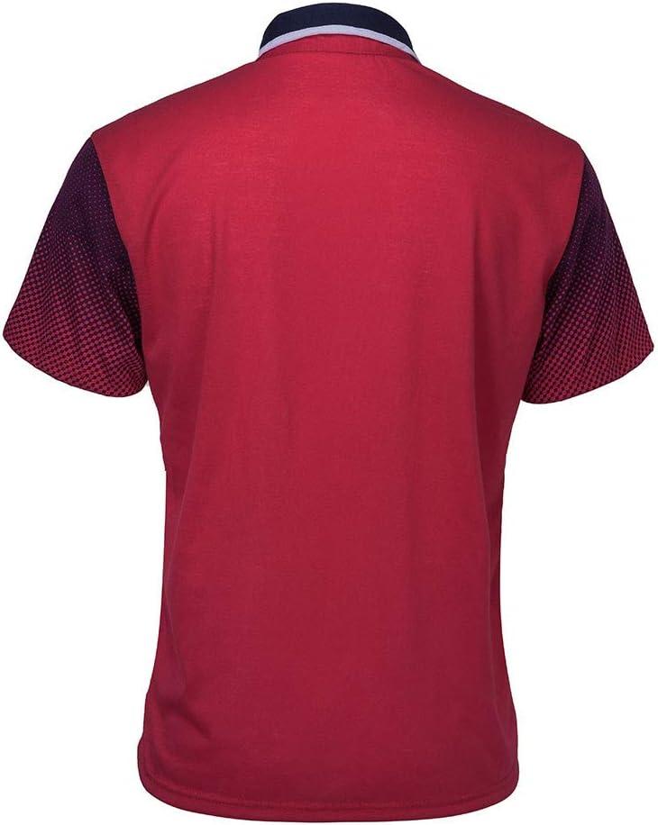 Mens Summer t Shirts Short Sleeve Tronet Gradient Stripe Splicing Pattern Casual Fashion Lapel Short Sleeve Shirt