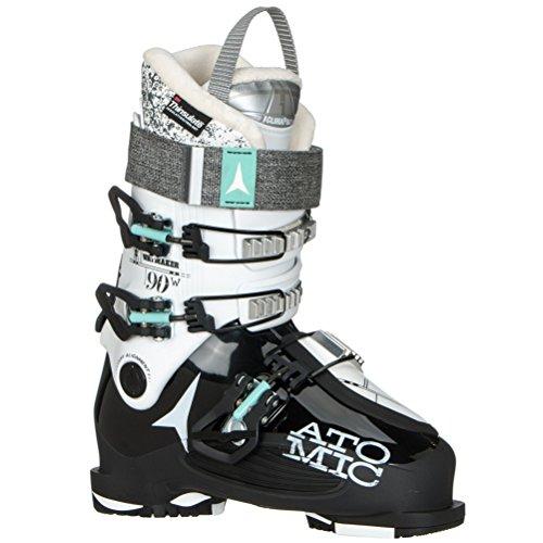 (Atomic Waymaker 90 W Womens Ski Boots - 24.5/Black-White)