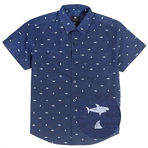 shark button up - 9