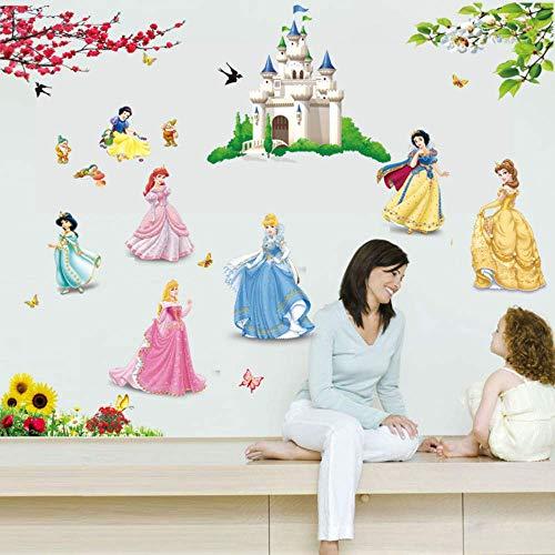 Leguliya Castle Princess Decorative Wall Stickers for Kids Nursery Room Decorations Home Fairy Tale Cartoon Decor Mural Girls Gift Poster