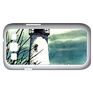 Town Lighthouse F2 (Lighthouses Series) Watercolor style - Case Cover For Samsung Galaxy S3 i9300 (White)