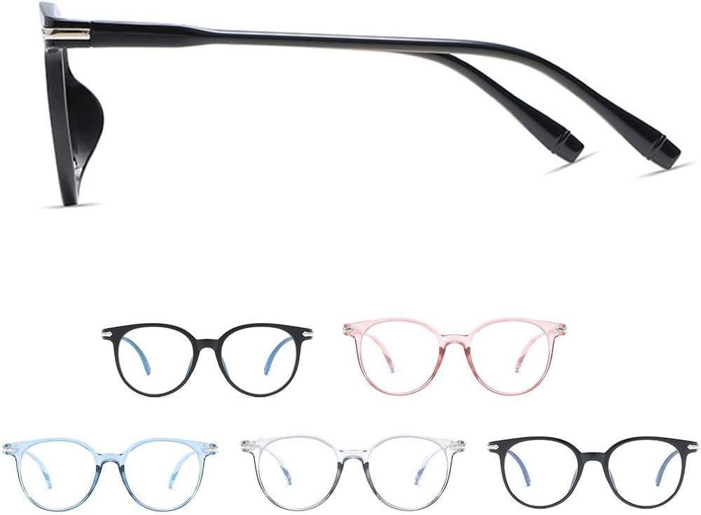 Zerama El Bloqueo de luz Azul Gafas Anti Fatiga Visual vidrios Decorativos Luz Ordenador Gafas de protecci/ón radiol/ógica