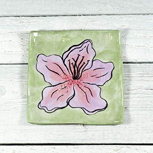 Amazoncom Hibiscus Flower Tray Ring Dish Spoon Rest Handmade