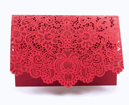 Perfect Wedding Invitation Card 185127cm Invitation Card Wedding Card With Inner Paper Envelope And Seal Red Gold White -