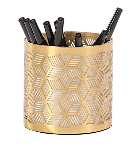 Gold Finished Holder Pen - Deco 79 57417 Pencil Holder, Gold