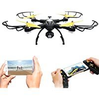 Foldable Quadcopter RC Drone with WiFi 720P HD Camera Live Video 2.4GHz 4CH 6-Axis Gyro APP Control FPV Drone with Altitude Hold,Gravity Sensor and Headless Mode Function JJRC H39 Drone