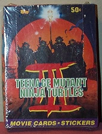 Teenage Mutant Ninja Turtles III 3 TMNT Movie Trading Cards & Stickers Box