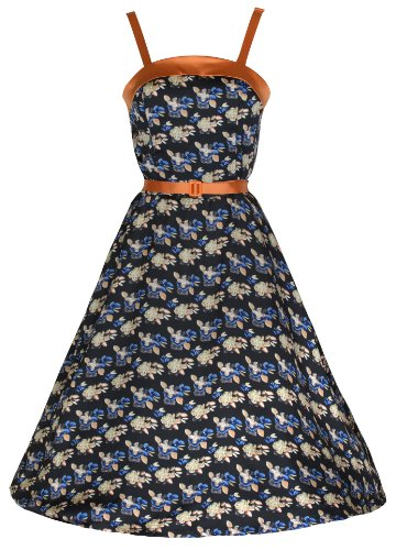 Lindy-Bop-Womens-Valetta-Vintage-1950s-Style-Strappy-Floral-Print-Dress