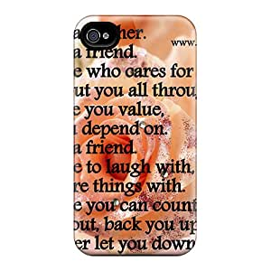 Durable Designer Flowers Back Case/cover For Iphone 4/4s
