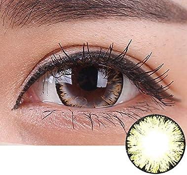 Lentes de moda, lentes de contacto de color de 1 año de uso BIG EYE GIRL BROWN (2 lentillas por caja): Amazon.es: Salud y cuidado personal