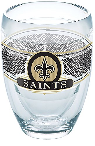 Tervis 1271013 NFL New Orleans Saints Select Tumbler with Wrap 9oz Stemless Wine Glass, -
