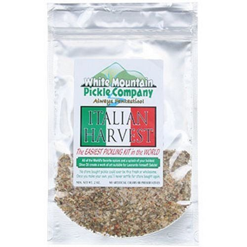 White Mountain Pickle Co. Italian Harvest Pickling Kit - No Canning Jars Needed White Mountain Pickle Company