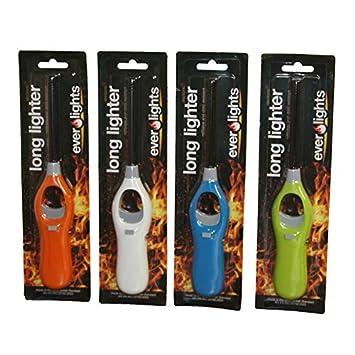 barbacoa fuego Mechero Hornillo corto largo Rellenable Cocina de gas camping cocina: Amazon.es: Jardín