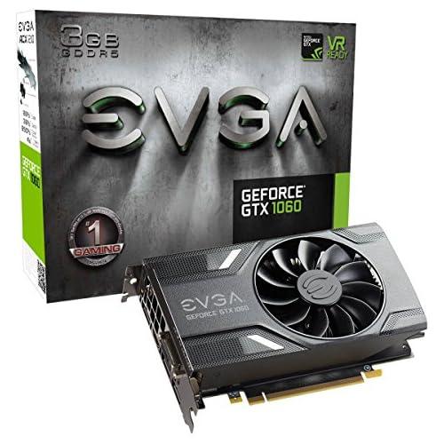chollos oferta descuentos barato EVGA GeForce GTX 1060 3GB GAMING ACX 2 0 solo ventilador 3GB GDDR5 DX12 Tarjetas de gráficos OSD Support PXOC Tarjeta Grafica 03G P4 6160 KR