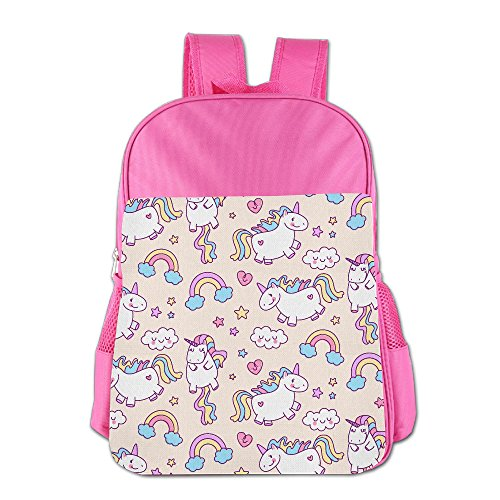 Kids Colorful Unicorn Back To School Backpacks Students Bookbag Lunch Bag Tote Snack Bags With Water Bottle Pockets
