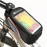 WEANAS Bike Bicycle Handlebar Frame Pannier Front Top Tube Bag Pack Rack X Large Waterproof for Iphone 6 6 Plus Samsung Mobile Phone