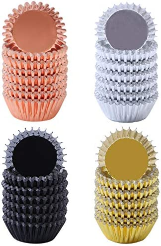 Elcoho Pieces Metallic Cupcake Liners product image