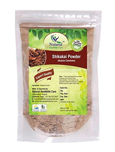 Natural Healthlife Care 100% Natural Shikakai Powder/(ACACIA CONCINA) Excellent Hair Conditioner, 227 gms/1/2 LB Pound/08 Oz (Amla Powder Shikakai)