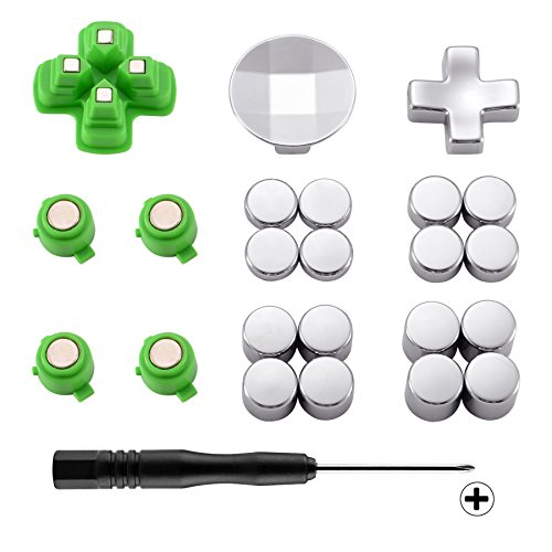 eXtremeRate Magnetic Metal Bullet Buttons, Adjustable D-pad Dpads, Repair Kit Replacement Parts for PlayStation 4, PS4 Slim,PS4 Pro Controllers (23 in 1) by eXtremeRate